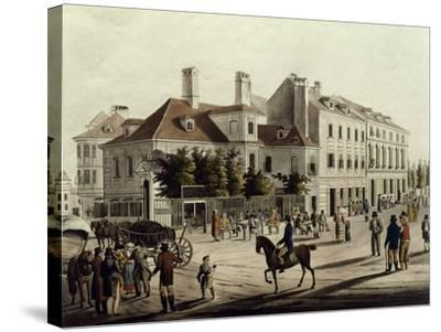The Surroundings of Leopoldstadt in Vienna, Austria 19th Century--Stretched Canvas Print