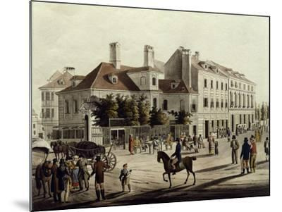 The Surroundings of Leopoldstadt in Vienna, Austria 19th Century--Mounted Giclee Print