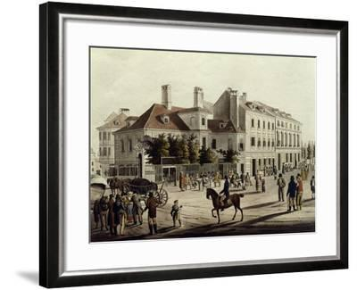 The Surroundings of Leopoldstadt in Vienna, Austria 19th Century--Framed Giclee Print