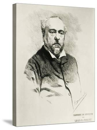 Portrait of Emmanuel Chabrier, French Composer--Stretched Canvas Print