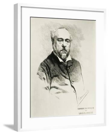 Portrait of Emmanuel Chabrier, French Composer--Framed Giclee Print