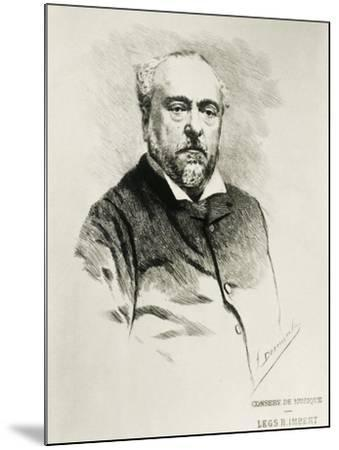 Portrait of Emmanuel Chabrier, French Composer--Mounted Giclee Print