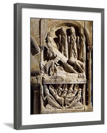 Deposition in Tomb, Detail from Romanesque Relief in Cloister of St Dominic's Monastery--Framed Giclee Print