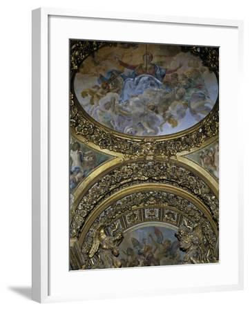 Detail of Frescoes and Decoration, Chapel of St Joseph, Church of St Mary in Campitelli--Framed Giclee Print