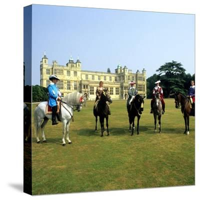 Audley End House Costume Horse Riders Re-Enactment--Stretched Canvas Print