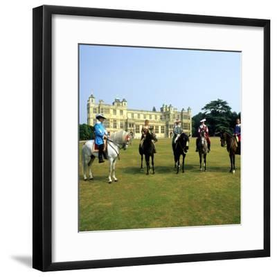 Audley End House Costume Horse Riders Re-Enactment--Framed Giclee Print