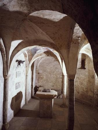 11th Century Crypt, Cathedral of Chieri, Italy--Framed Giclee Print