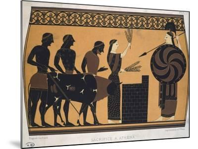 Sacrifice to Athena. Etruscan Civilization, 9th-1st Century BC--Mounted Giclee Print