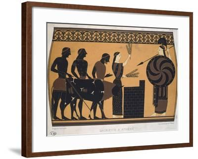 Sacrifice to Athena. Etruscan Civilization, 9th-1st Century BC--Framed Giclee Print