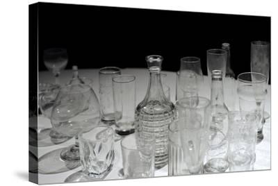 Glassware, Glasses, Bottles and Jars, Waino Aaltonen Museum, Turku, Finland--Stretched Canvas Print