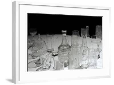 Glassware, Glasses, Bottles and Jars, Waino Aaltonen Museum, Turku, Finland--Framed Giclee Print