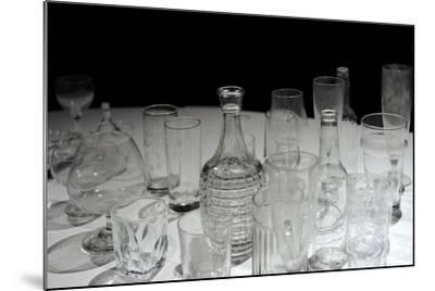 Glassware, Glasses, Bottles and Jars, Waino Aaltonen Museum, Turku, Finland--Mounted Giclee Print