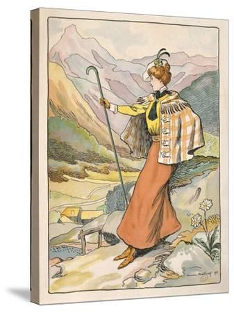 Mountain Walking Clothes--Stretched Canvas Print