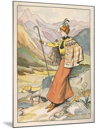 Mountain Walking Clothes--Mounted Giclee Print