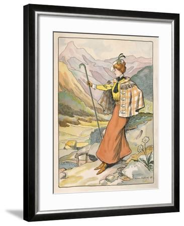 Mountain Walking Clothes--Framed Giclee Print