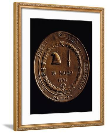 Plaque Commemorating Brescian Freedom Dated March 18, 1797 with Symbols of French Revolution--Framed Giclee Print