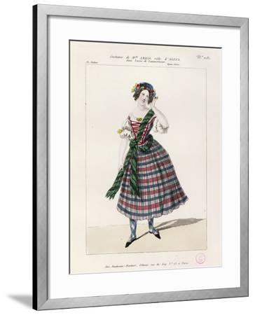 France, Paris, Costume Sketch for Alice in Opera Lucia Di Lammermoor--Framed Giclee Print