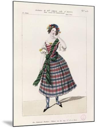 France, Paris, Costume Sketch for Alice in Opera Lucia Di Lammermoor--Mounted Giclee Print