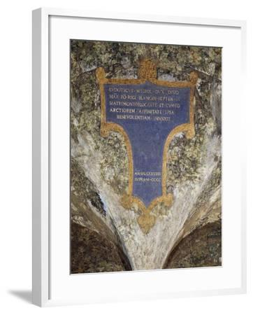Inscription with Dedication from Milan to Louis Xii--Framed Giclee Print