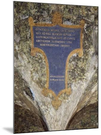 Inscription with Dedication from Milan to Louis Xii--Mounted Giclee Print