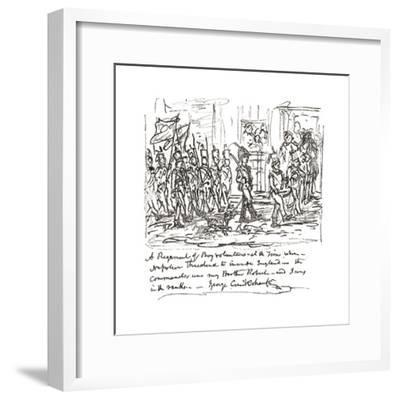 Sketch in Pen and Ink Depicting Robert Heading a Boy Regiment--Framed Giclee Print