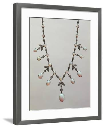 Opal and Diamond Necklace, around 1900--Framed Giclee Print