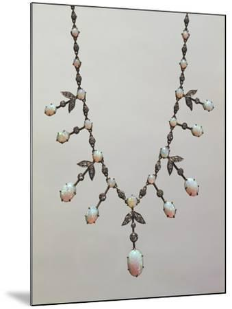 Opal and Diamond Necklace, around 1900--Mounted Giclee Print