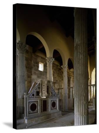 Church of Saint Peter, Interior, Massa D'Albe, Abruzzo, Italy--Stretched Canvas Print