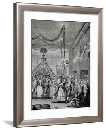 Ball at Versailles for Carnival of 1763, France--Framed Giclee Print