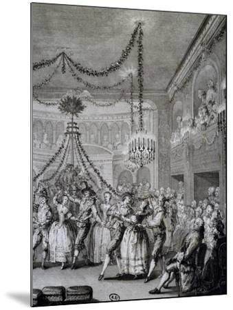 Ball at Versailles for Carnival of 1763, France--Mounted Giclee Print