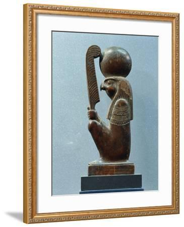 Ancient Egyptian Figurine of Sun God Ra in as Falcon--Framed Giclee Print