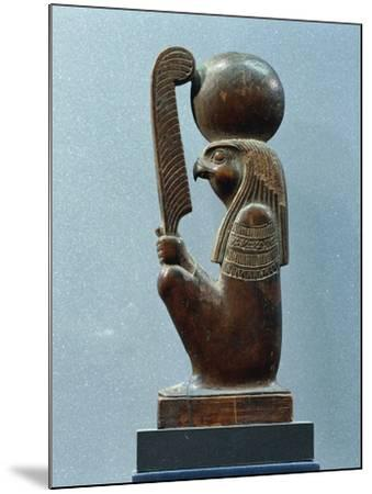 Ancient Egyptian Figurine of Sun God Ra in as Falcon--Mounted Giclee Print