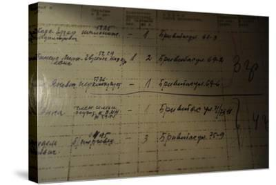 List of People Who Was Deported to Siberia by the Russian Authorities, 1941--Stretched Canvas Print