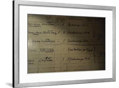 List of People Who Was Deported to Siberia by the Russian Authorities, 1941--Framed Giclee Print
