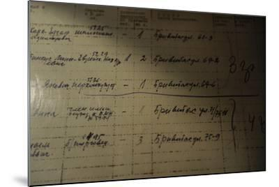 List of People Who Was Deported to Siberia by the Russian Authorities, 1941--Mounted Giclee Print