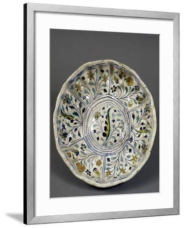 Fruit Bowl with Floral Decorations, 1613, Ceramic, Veneto, Italy--Framed Giclee Print