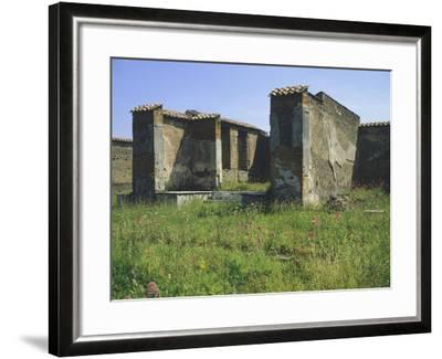 Inside Great Market and Macellum, Pompeii, Campania--Framed Giclee Print
