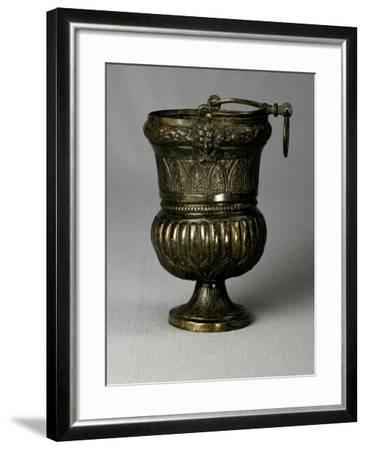 Louis XVI-Style Tuscan Bucket, Embossed Copper, Italy--Framed Giclee Print