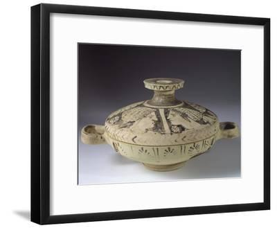 Alto Adriatico Lekanis Decorated in Female Protomes, from Tomb 898 in Necropolis of Valle Trebba--Framed Giclee Print