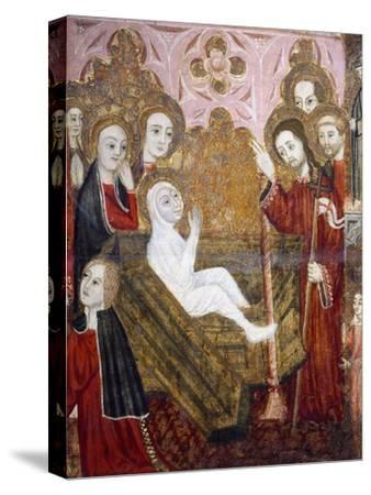 The Resurrection, Retablo of the Life of St Lazarus--Stretched Canvas Print