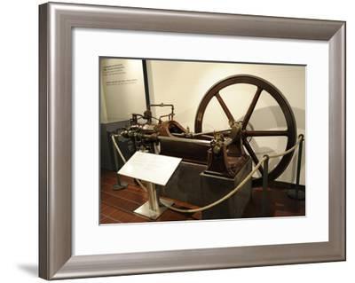 Stationary Gas Motor--Framed Giclee Print