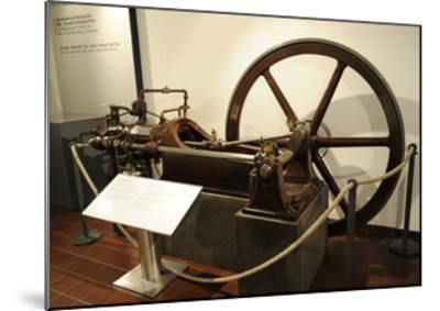 Stationary Gas Motor--Mounted Giclee Print