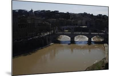 Italy. Rome. Tiber River from Castel Sant'Angelo--Mounted Giclee Print