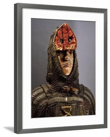 Amour in Steel, Brass, Chain Mail and Leather from Sind, on Border Between India and Pakistan--Framed Giclee Print