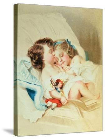 Christmas Dream, Victorian Postcard--Stretched Canvas Print