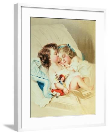 Christmas Dream, Victorian Postcard--Framed Giclee Print