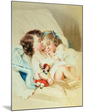 Christmas Dream, Victorian Postcard--Mounted Giclee Print