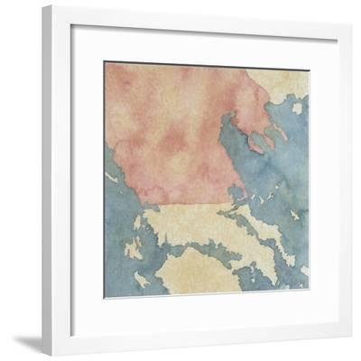 Map of Greek Regions under Macedonian Rule, 3rd Century BC--Framed Giclee Print