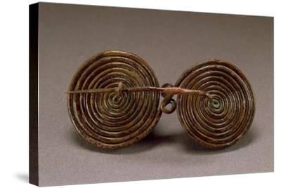 Double-Spiral Bronze Fibula--Stretched Canvas Print