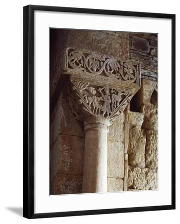 Spain, Zamora, Church of St Peter of Nave, Sacriface of Isaac, Detail of a Carved Capital--Framed Giclee Print